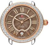 Michele Serein 16 18K Rose Gold Diamond-Encrusted Watch Head