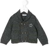Dolce & Gabbana crown embroidered knitted cardigan - kids - Virgin Wool - 12 mth