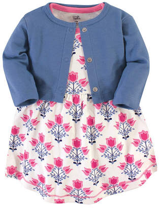 Touched by Nature Baby Girl Organic Dress and Cardigan Set, 2 Piece