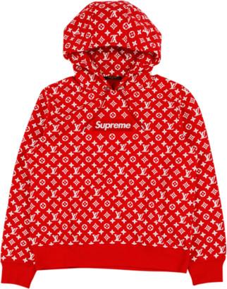 Louis Vuitton All Over Monogram Hoody 'Louis Vuitton X Supreme' - Medium
