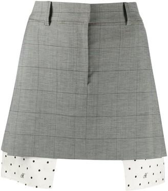Monse Layered Mini Skirt