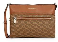 Karl Lagerfeld Paris Willow Monogram Faux Leather Crossbody Bag