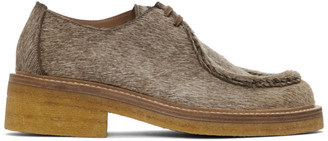 Dries Van Noten Beige Pony Hair Chukka Derbys