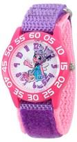 Sesame Street Girls' Pink Plastic Time Teacher Watch - Purple