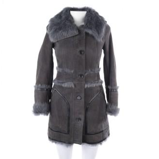 Burberry Grey Suede Coats