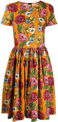 Marni Brushstroke Floral Print Dress