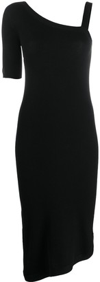 Barrie Cashmere One Shoulder Dress