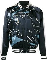 Valentino lion print bomber jacket - men - Cotton/Viscose/Polyester - 46