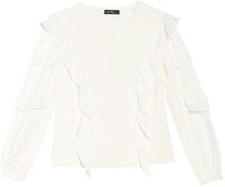 Ontwelfth Cascading Ruffle Pullover Sweatshirt