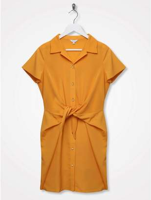 M&Co Sonder Studio knot front shirt dress