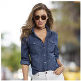 Denim Pearl Snap Shirt