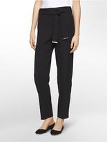Calvin Klein Slim Tie Belt Cropped Pants