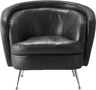 Dexter Tub Chair Black Leather