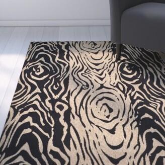 "Martha Stewart Coffee/Black Area Rug Rug Size: Rectangle 2'7"" x 5'"