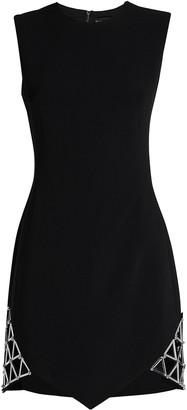 David Koma Sleeveless Cady Mini Dress