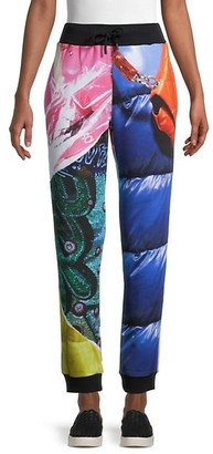 Moschino Mixed-Print Quilted Lounge Pants