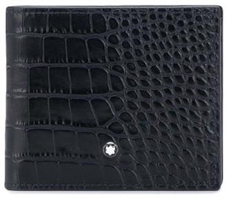 Montblanc Crocodile-Embossed Bi-Fold Wallet