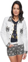 Juicy Couture Daisy Embellished Denim Jacket