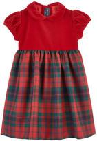Oscar de la Renta Bi-material wool dress
