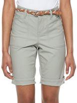 Gloria Vanderbilt Petite Rachel Belted Bermuda Shorts