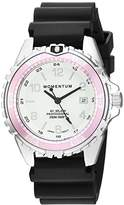 Momentum Women's Quartz Stainless Steel and Rubber Diving Watch, Color:Black (Model: 1M-DN11LR1B)