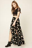 Forever 21 FOREVER 21+ Floral Side-Slit Maxi Skirt