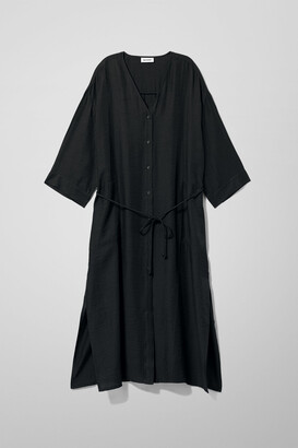 Weekday Lani Dress - Black