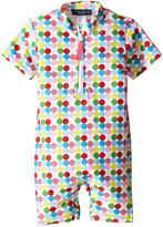 Toobydoo Dot/White Stripe Short Sleeve Sunsuit (Infant)
