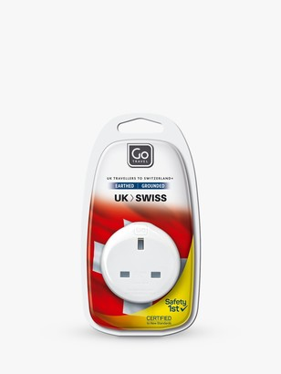 Go Travel USB UK to Swiss Travel Adaptor