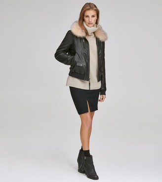 Andrew Marc   Final Sale Naples Leather Bomber