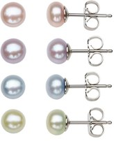 Honora Girl's Freshwater Pearl Stud Earrings (Set Of 4)