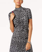 MICHAEL Michael Kors Animal-Print Turtleneck Sweater