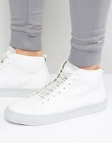 Jack and Jones Neptune Hi Top Sneakers In Leather