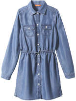 Joe Fresh Kid Girls' Shirt Dress, Medium Wash (Size S)