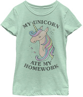 Fifth Sun Mint 'Unicorn Ate My Homework' Tee - Toddler & Girls
