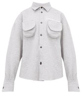 Natasha Zinko Marled Cotton-blend Jersey Shirt - Womens - Grey