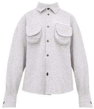 Natasha Zinko Marled Cotton-blend Jersey Shirt - Grey