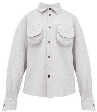 Natasha Zinko Marled Cotton Blend Jersey Shirt - Womens - Grey