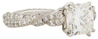 David Yurman Platinum Wisteria Engagement Ring