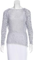 Helmut Lang Open-Knit Scoop-Neck Sweater