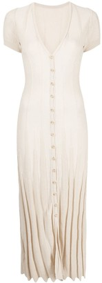 Jacquemus Button-Up Short-Sleeved Midi Dress