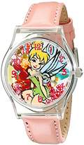 Disney Kids' W001707 Tinker Bell Analog Display Analog Quartz Pink Watch