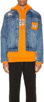 Burberry Satchwell Jacket in Light Indigo Blue   FWRD