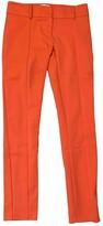 Patrizia Pepe Orange Cotton Trousers for Women