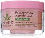 Hempz Herbal Sugar Body Scrub, Light Pink, Pomegranate, 7.3 Fluid Ounce