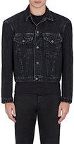 Balenciaga Men's Trucker Denim Jacket-BLACK