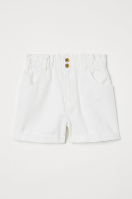 H&M Cotton Twill Shorts - White