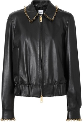 Burberry Ring-pierced Lambskin Jacket