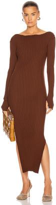 Totême Orville Dress in Dark Brown | FWRD