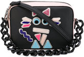 Karl Lagerfeld cat motif mini tote - women - Leather/Cotton/Plastic - One Size